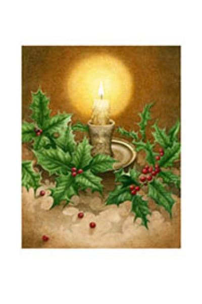 Midwinter Holly Card