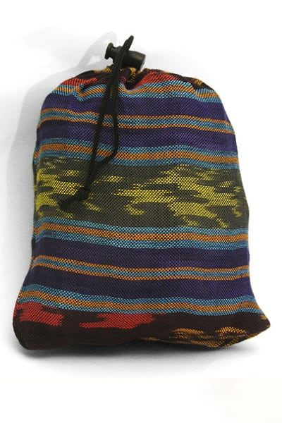 Ikat Pattern Drawstring Bag